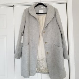 NWT Wilfred Aritzia wool cashmere cocoon coat L